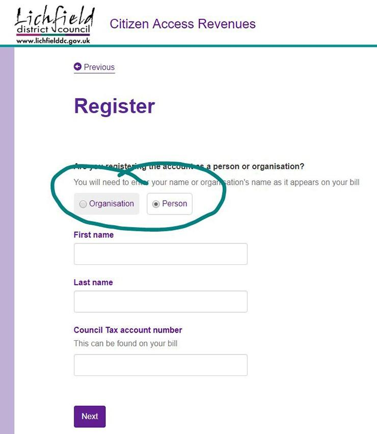 Register to link up your accounts