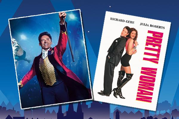 Greatest Showman and Pretty Woman movie posters