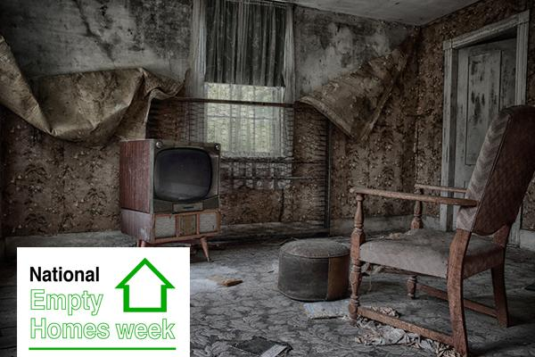 interior of derelict home