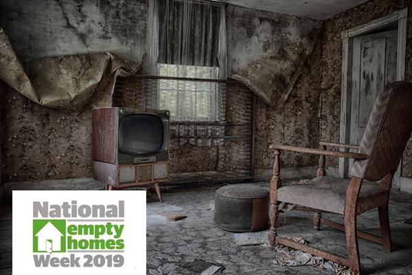 image of the inside of a derelict home