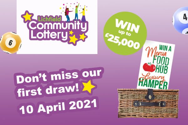Don't miss our first draw on 10 April 2021