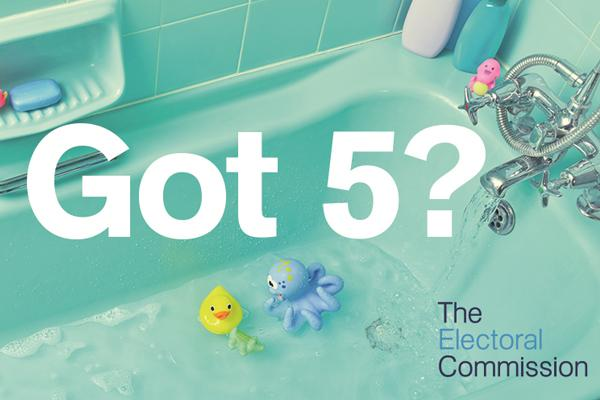 image of a bath with text 'got 5'