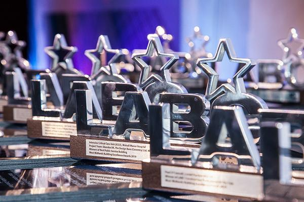 image of silver LABC award trophies