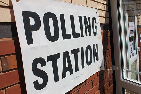 sign of polling stations
