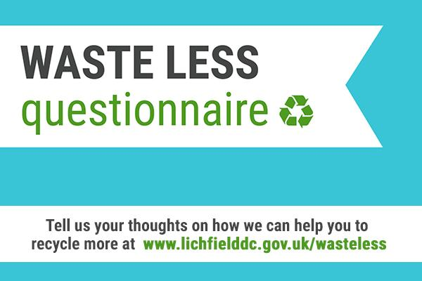 artwork saying waste less questionnaire