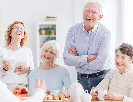 group of happy older people