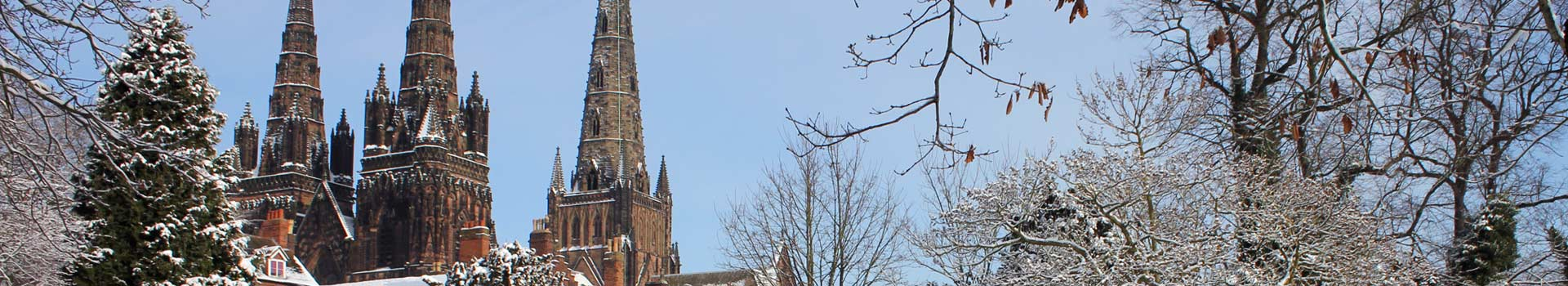 Snowy Lichfield Cathedral