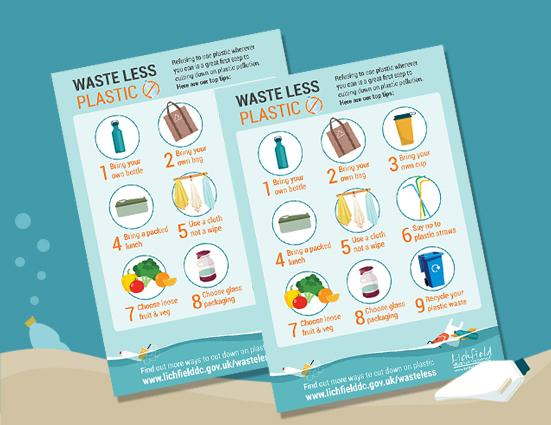 image of waste less plastic poster